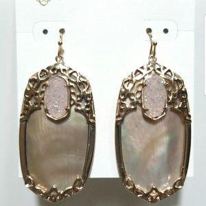 Kendra Scott Deva Rose Gold Brown MOP Earrings